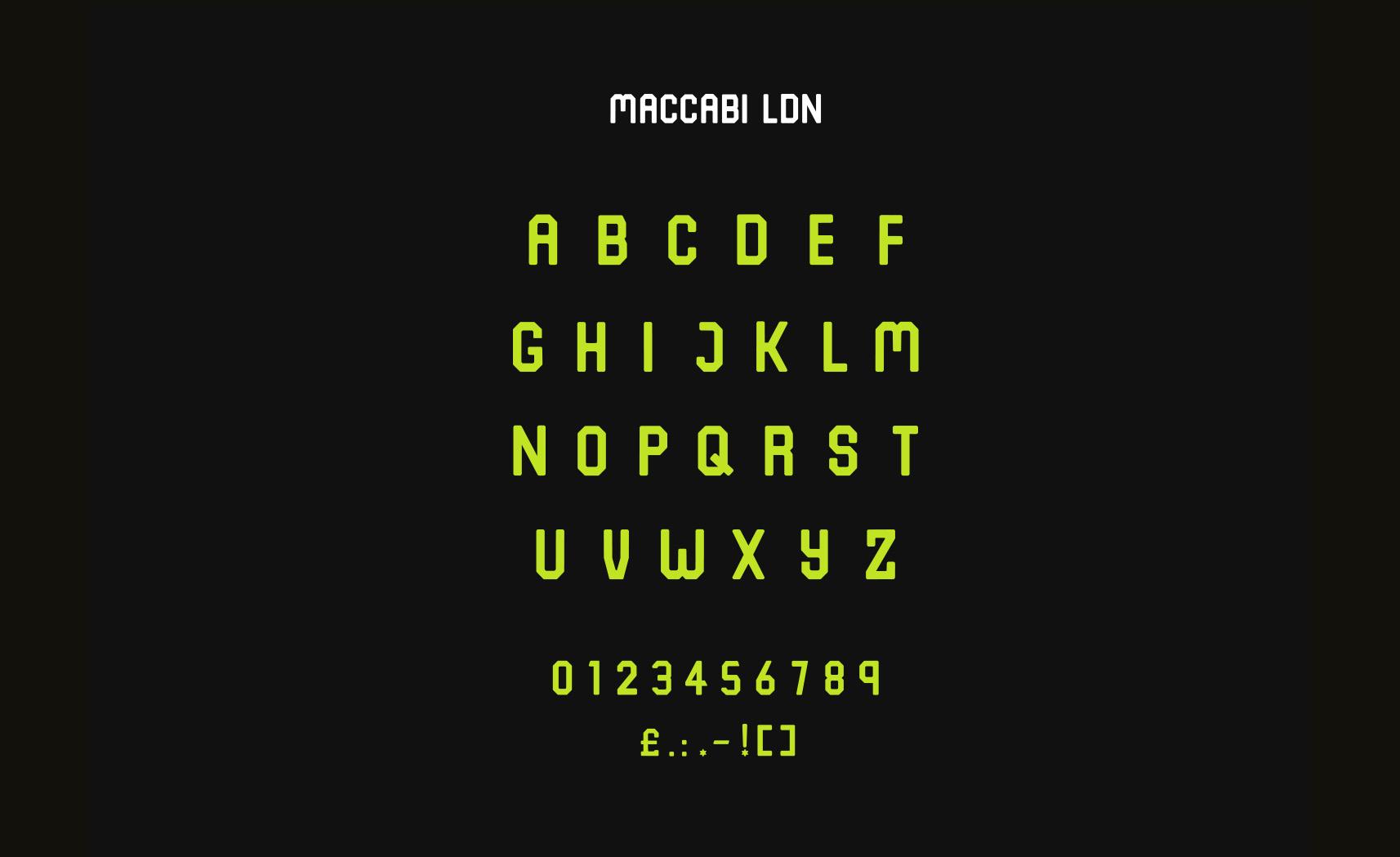 Maccabi_LDN_Typeface